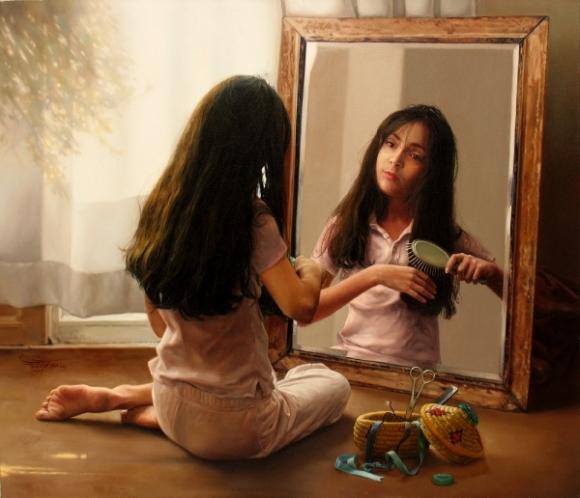 Hình ảnh cái tôi trong gương