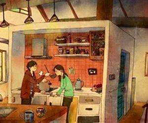 Vợ chồng cãi nhau 40 phút mỗi ngày vì việc nhà