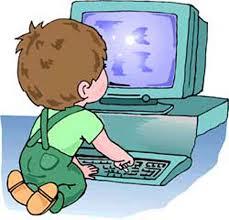 Trẻ con với thiết bị điện tử